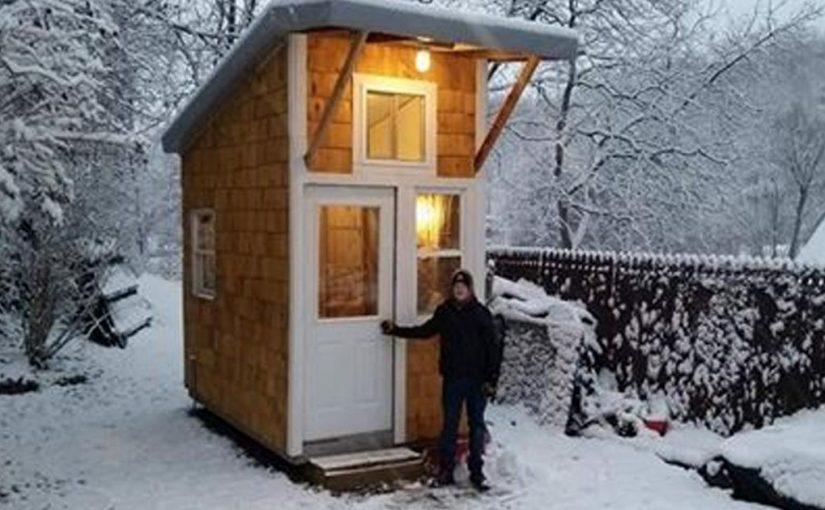 13-летний подросток построил на заднем дворе свой собственный мини-дом, заглянув в который, вы будете в восторге